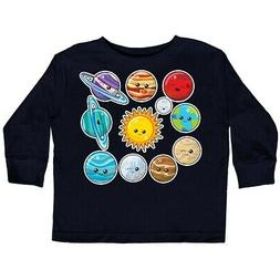 Inktastic Happy Sun Moon And Planets Toddler Long Sleeve T-S
