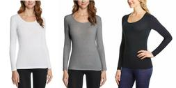 32 Degrees Heat Women's Scoop Neck Long sleeve top