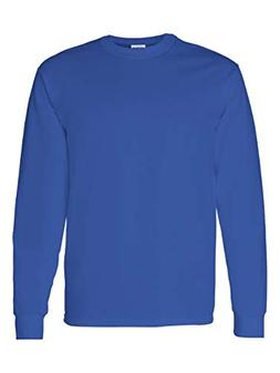 Gildan Mens 5.3 oz. Heavy Cotton Long-Sleeve T-Shirt  -ROYAL