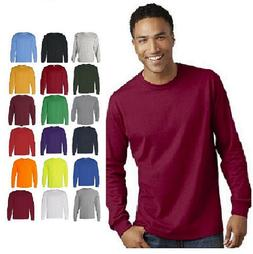 Gildan Heavy Cotton Long Sleeve T Shirt Mens Blank Casual Pl