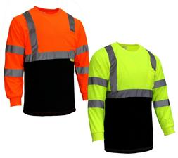 Hi Vis T Shirt Class 3 Reflective Safety Long Sleeve HIGH VI