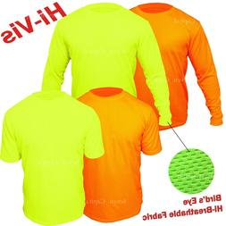 Hi Vis T Shirt Non ANSI Long Sleeve Safety High Visibility Y