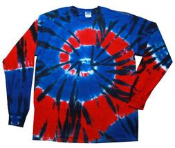 Independance Multi-Color Long Sleeve Tie Dye T-Shirt Adult S