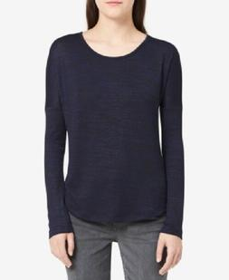 Calvin Klein Jeans Women's Relaxed Long-Sleeve T-Shirt Navy