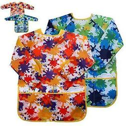 Kids Art Smock Painting Apron -  Long Sleeve and 2 Pockets f