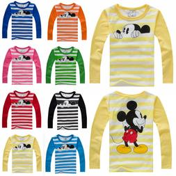 Kids Boys Girls Mickey Mouse Long Sleeve T-Shirt Cartoon Blo