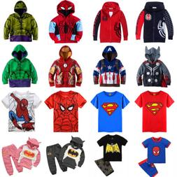 Kids Toddler Boys Superhero Hoodie Coat Sweatshirt/ T-Shirt/