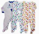 100% Cotton Sleepers-Long-Sleeve Footed- Sizes 3, 6,12, 18 M