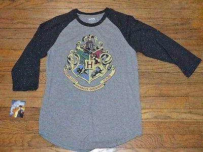 Harry Potter 3/4 Sleeve Mens Graphic Tee Officially Licensed
