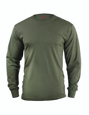 Rothco 60118 Long Sleeve Solid Poly/Cotton T-Shirt - Olive D