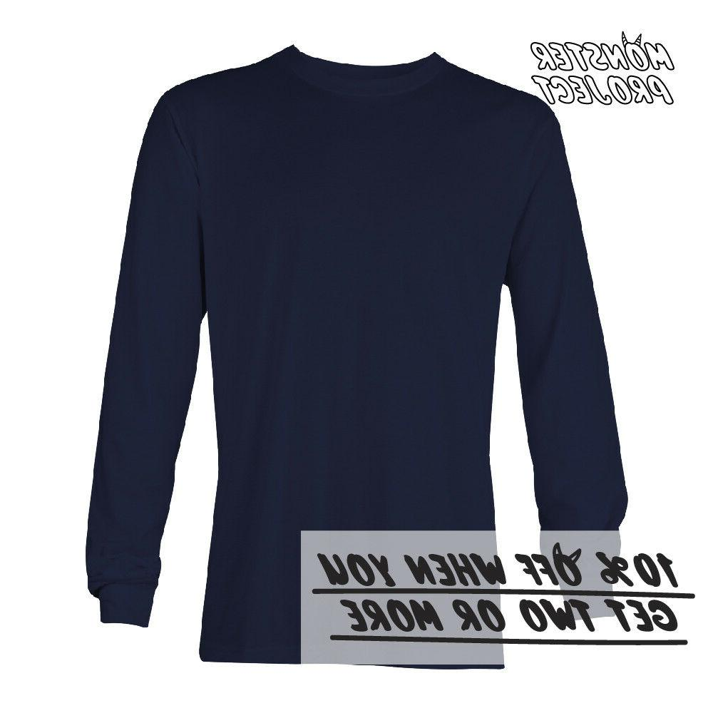 AAA MEN CASUAL LONG SLEEVE WORK TEE ACTIVE