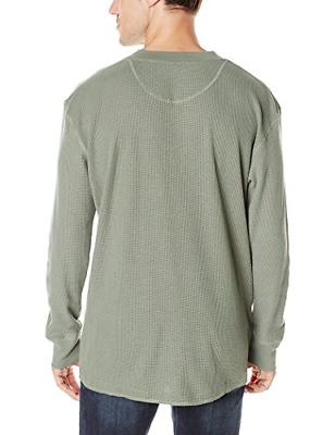 Wrangler Authentics and Sleeve Waffle Henley, Sea 3XL