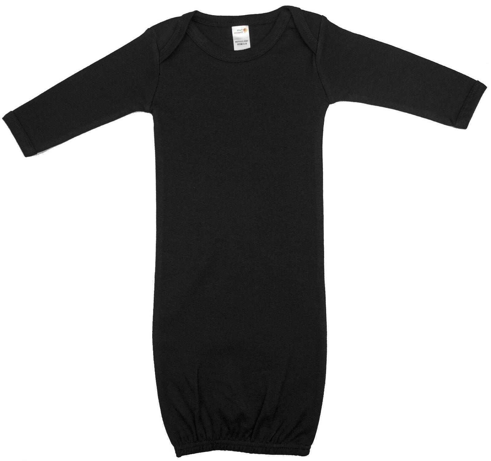 baby girls long sleeve gown 100 percent