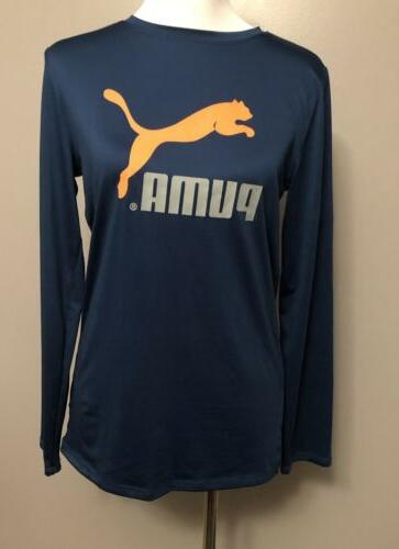 Puma Blue XL 18-20 Long Sleeve Compression Dri Material Shir