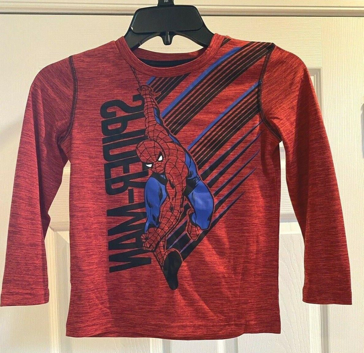 Jumping Beans Spiderman Long Sleeve T-shirt Size 6