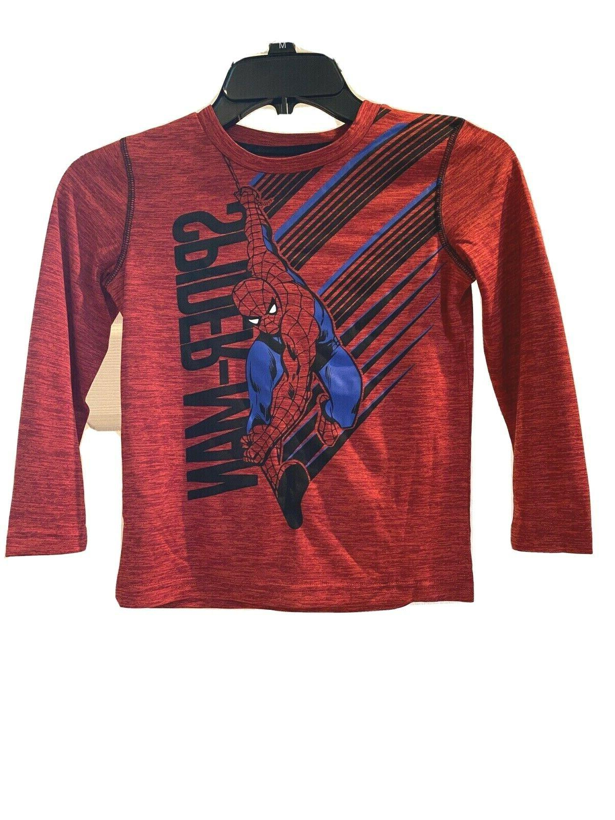 boys spiderman long sleeve t shirt size