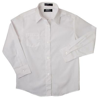 Boys french toast white broadcloth button down long sleeve d