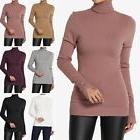 TheMogan Button Slit Cuff Long Sleeve Turtle Neck Ribbed Kni
