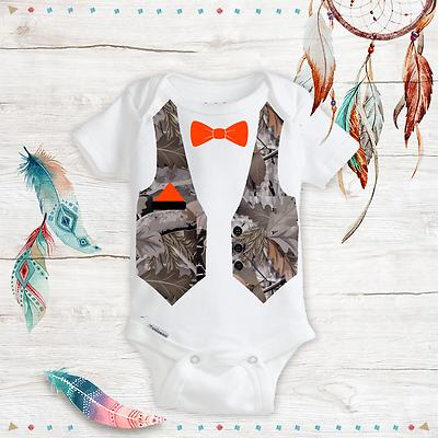 camo camouflage bow tie suit hunting baby