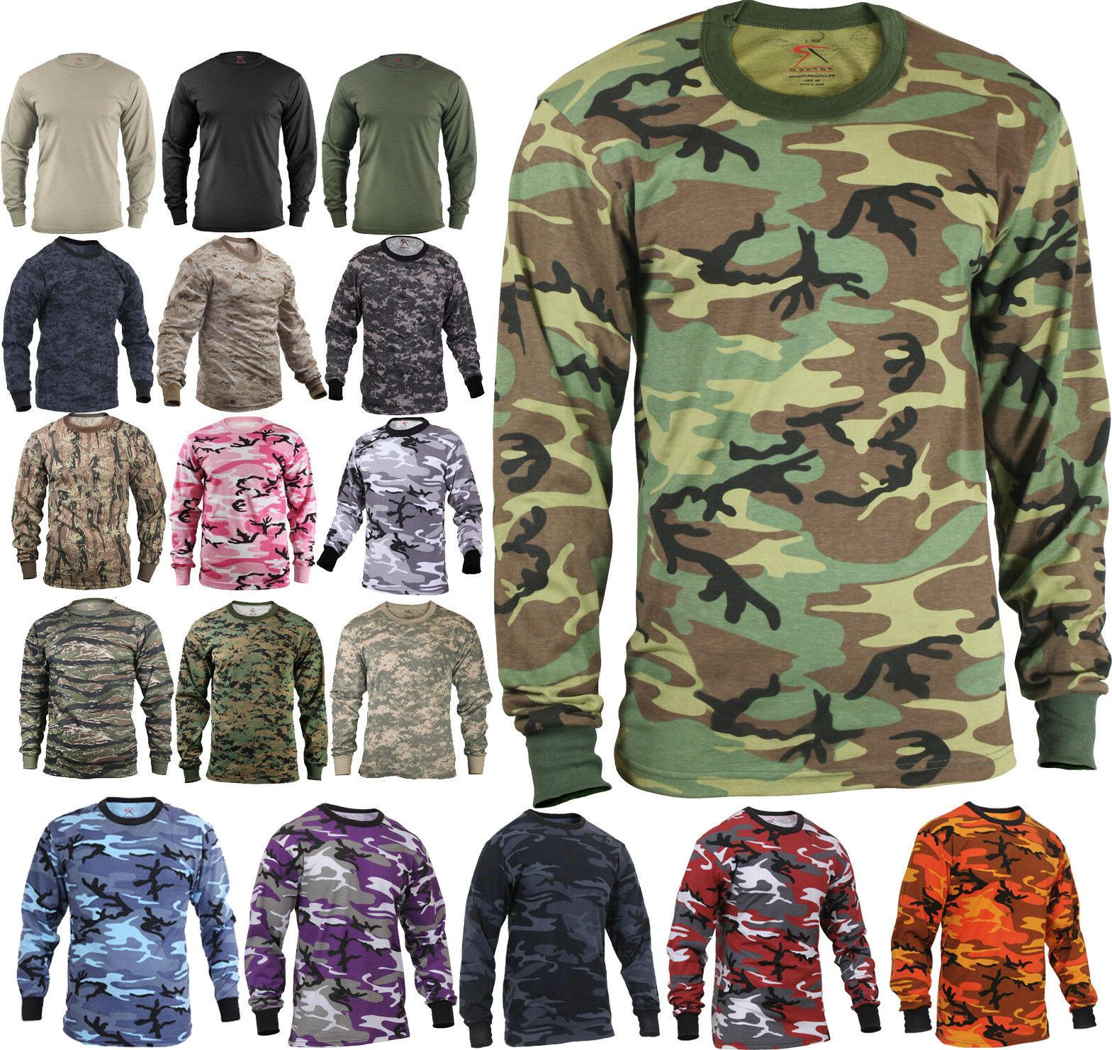 Camo Long T-Shirt Tactical Undershirt Camouflage
