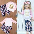 Child Toddler Kid Girl Outfits Clothes Long Sleeve Tshirt To