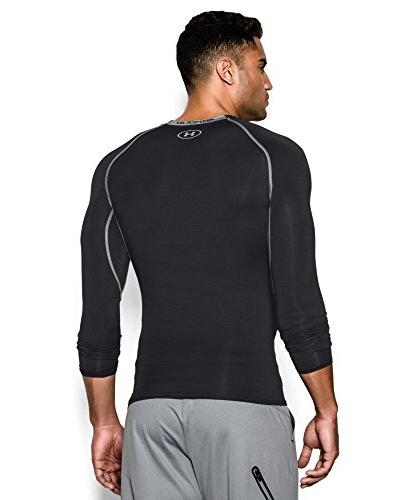 Men's Armour Compression Fit Sleeve T-Shirt, Size Large - Black