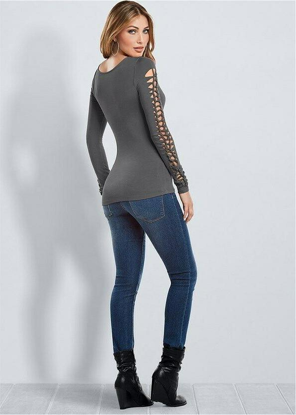 VENUS Long SLEEVE in Gray 4-6