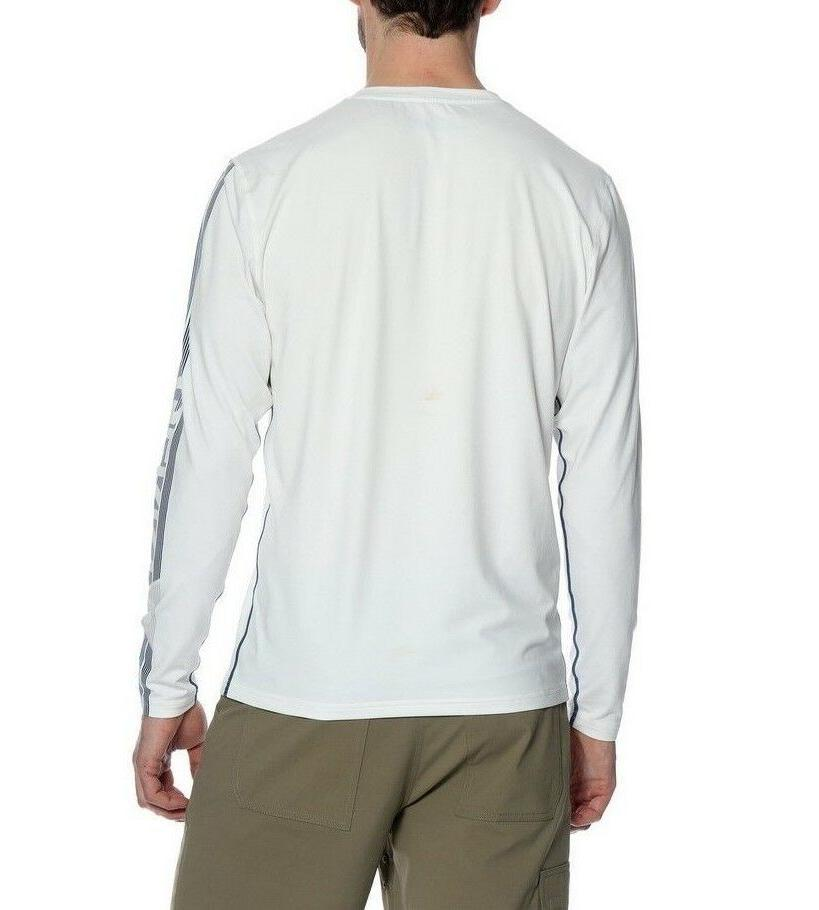 $225 CALVIN KLEIN Men's BLUE WHITE LOGO LONG-SLEEVE PULLOVER