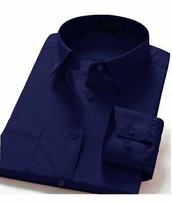 Dress Shirts Fit Oxford Long One Shirt