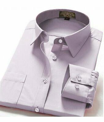 Dress Shirts Men's Fit Oxford Long Sleeve One Pocket Shirt
