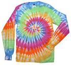 Eternity Long Sleeve Tie Dye T-Shirt Adult S - 3X 100% Cotto