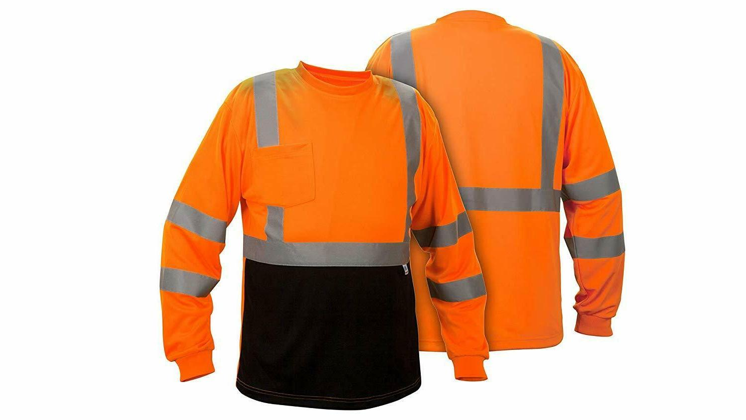 Hi ANSI 3 Moisture Wicking Long Sleeve Reflective