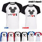 I Love Disney Mickey Mouse's Head Design Womens Mens Couple