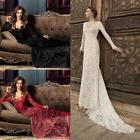 Lace Formal Wedding Bridesmaid Long Evening Party Ball Prom