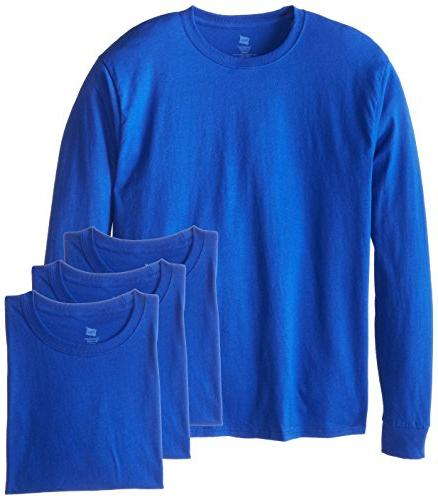 Hanes Men's 4 Long Deep Royal, Medium