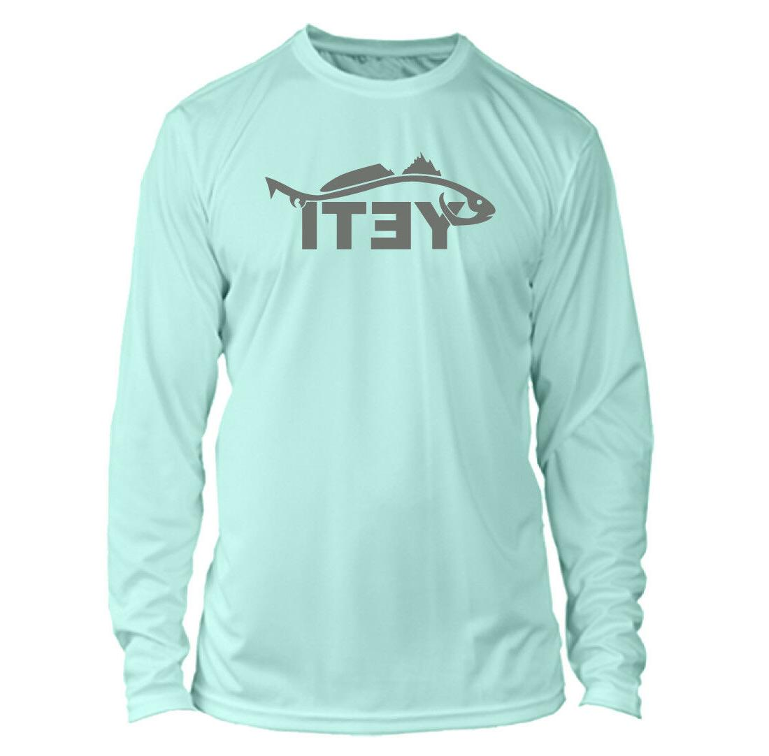 long sleeve microfiber upf fishing shirt seafoam