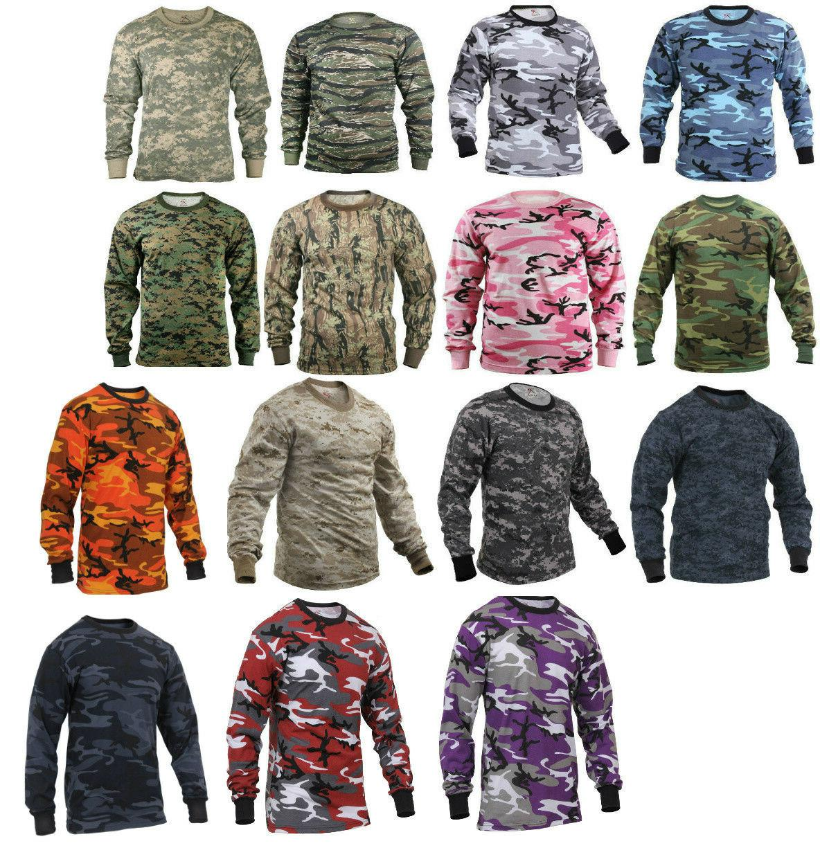 long sleeve t shirt camo tactical military