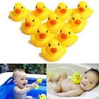 Lot 1/5/10/20Pcs Yellow Children Baby Bath Toys Cute Rubber
