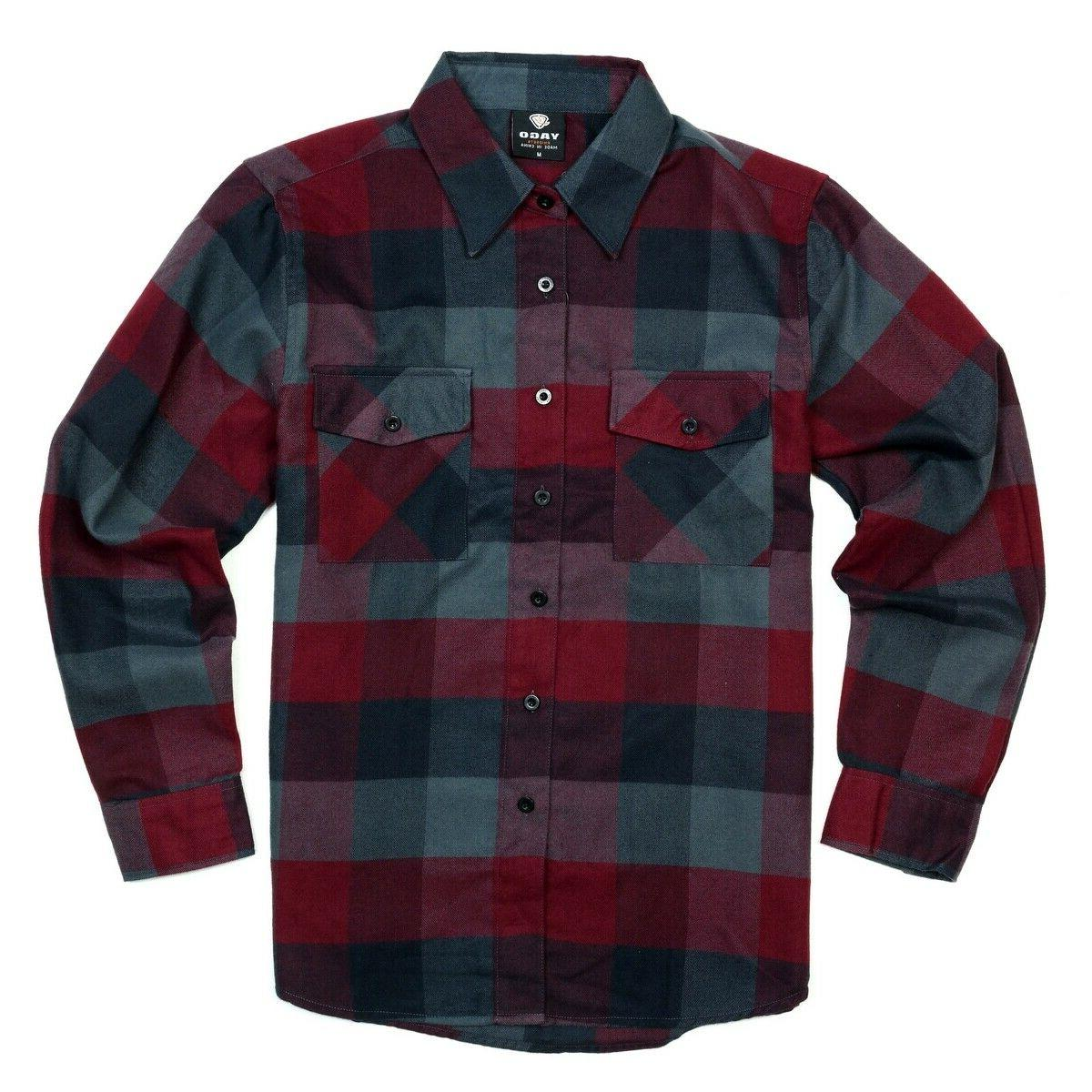 men s casual plaid flannel long sleeve