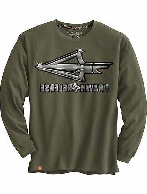 men s drawn to release long sleeve