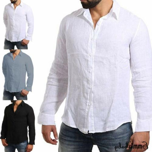 Men's Long Shirt Cool Loose