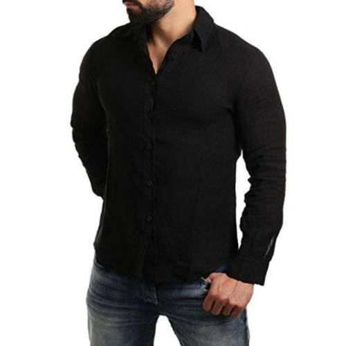 Men's Long Sleeve Shirt Summer Casual M-3XL