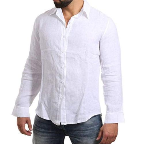 Men's Long Shirt Cool Casual M-3XL