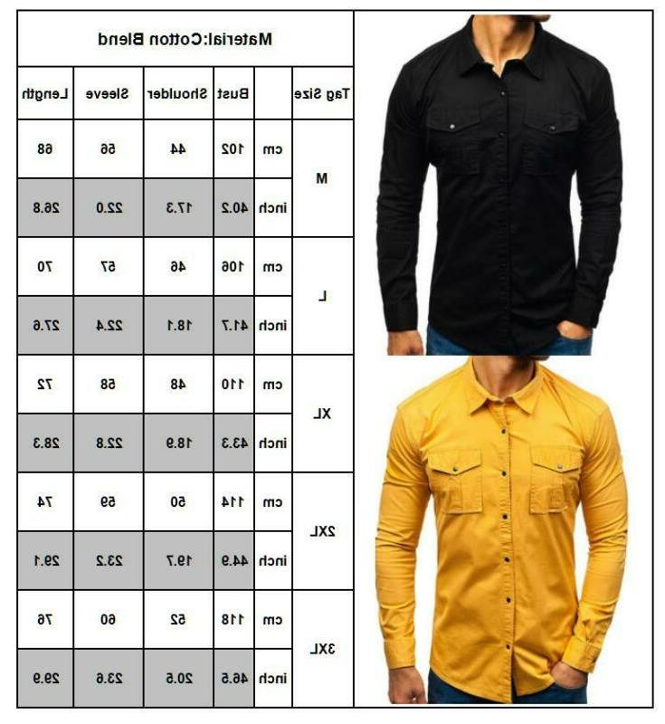 Men's Cargo Casual Military Army Shirts Pocket