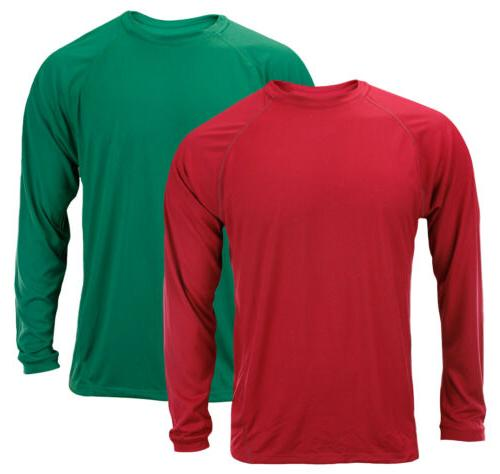 men s long sleeve climalite shirt red