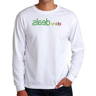 Hanes Men's Long-Sleeve ComfortBlend EcoSmart White T-Shirt