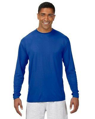 A4 Men's Long Sleeve Cooling Performance Crew Shirt N3165 S-