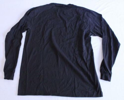 Soffe Men's Preshrunk Crewneck Long CW2 Black Size Large