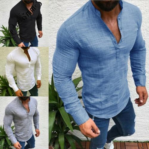 Men's Neck Tee T-shirt Casual