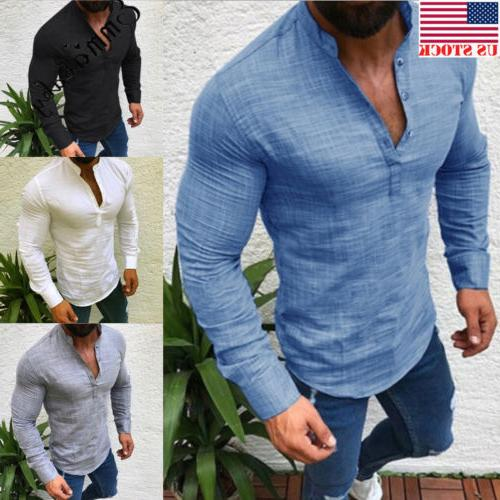 men s slim fit v neck long